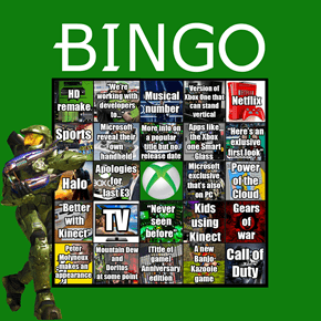 E3 Bingo Cards for All the Major Players