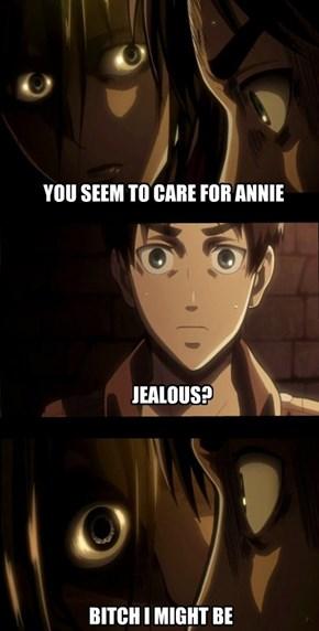 Clingy Mikasa