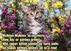 Happy Birthday MsAnna!