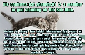 Offishul JeffCatsBookClub Memburship Kard for shanebc01