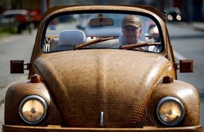 This Retired Bosnian Man Spent Years Making His Beetle Wood-Plated