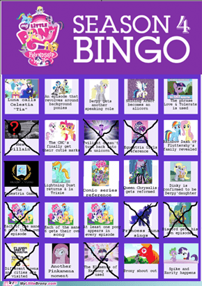 Season Four Bingo After