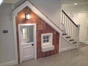 "Potter Inc. presents: The ""Home under the Stairs"" Do-It-Yourself-Kit"