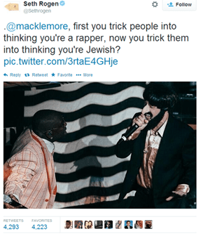 Macklemore May Have Stepped Over the Line With This Costume, but Seth Rogen Has the Best Burn in Response
