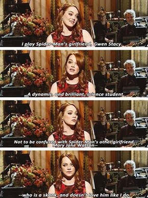 Emma Stone Explains The DIfference Between Gwen and Mary Jane