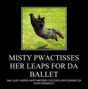MISTY PWACTISSES HER LEAPS FOR DA BALLET