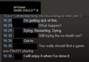 Dark Souls is srs bsns