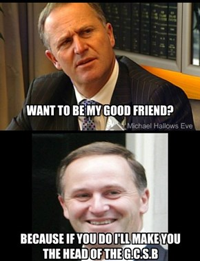 John Key's friends become G.C.S.B boss.