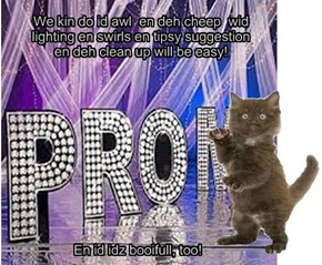 Major presents his Prom Theme idea