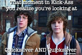 Quicksilver's So Fast, He's Doubled