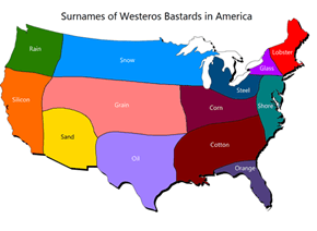 Bastard Surnames in America
