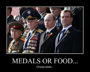 MEDALS OR FOOD...