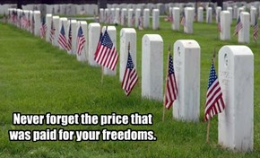 Never forget the price that was paid for your freedoms.