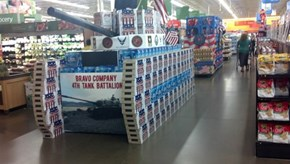A Tank Made Out of Beer in Walmart. 'Nuff Said.