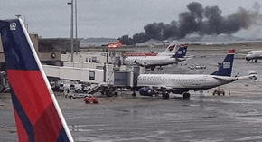 Boston's Logan International Airport is Insisting This Flaming Plane is a Part of a Safety Drill
