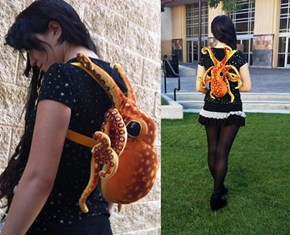 The Invertebrate Backpack That Hugs Back