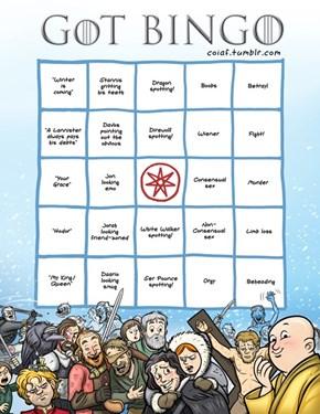 You'll Get Bingo Faster Than Someone Can Say Valar Morghulis