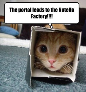 The portal leads to the Nutella Factory!!!!