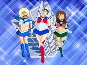 Shingeki No Sailor Moon Scouting Squad
