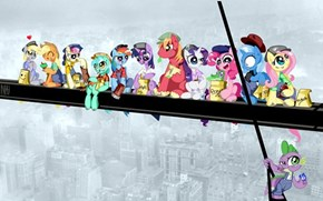 Lunch atop a Skyscraper  - Ponified