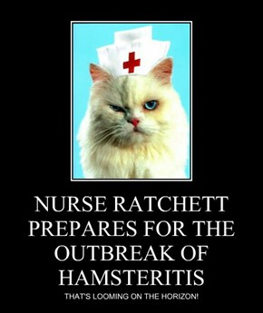 NURSE RATCHETT PREPARES FOR THE OUTBREAK OF HAMSTERITIS
