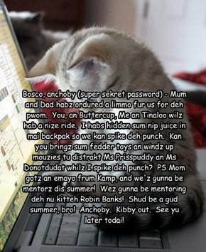 Kibby's emayo tu Bosco about pwom!