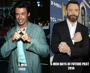 Hugh Jackman then and now