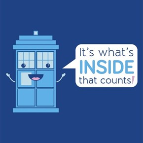 A TARDIS T-Shirt With a Good Body Image