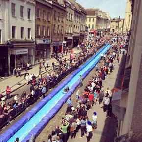 That Giant Water Slide in Bristol? It's Up and Running and Everyone Loves it.