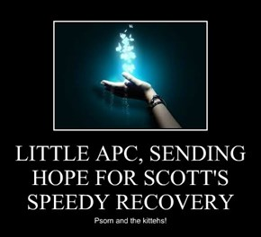 LITTLE APC, SENDING HOPE FOR SCOTT'S SPEEDY RECOVERY