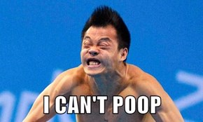 I CAN'T POOP