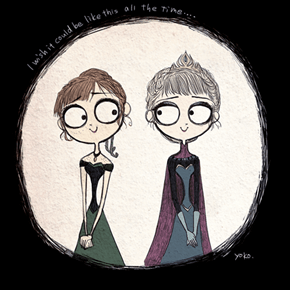 What If Frozen Was a Tim Burton Film?