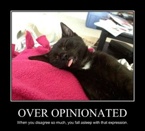 OVER OPINIONATED