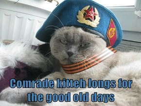 Comrade kitteh longs for the good old days