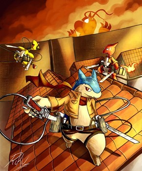 Attack on Dragonite