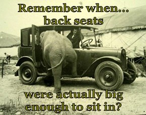 Remember when...    back seats   were actually big enough to sit in?