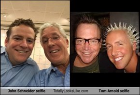 John Schneider selfie Totally Looks Like Tom Arnold selfie