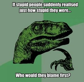 If stupid people suddenly realised  just how stupid they were...