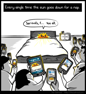 Every Single Time The Sun Goes Down For A Nap (The Oatmeal)