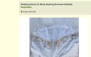 Cuckolded Husband Sells Wife's Wedding Dress