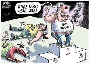 Gun Violence is The One Thing The US Leads The Rest of The Developed World In