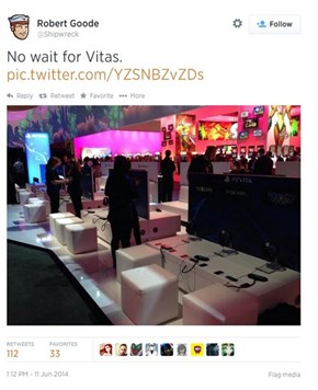 The Vita Booth at E3