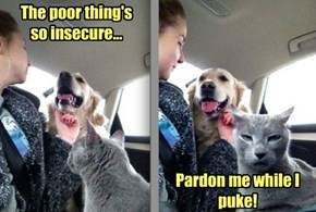 Let's face it - the dog has dependency issues too!