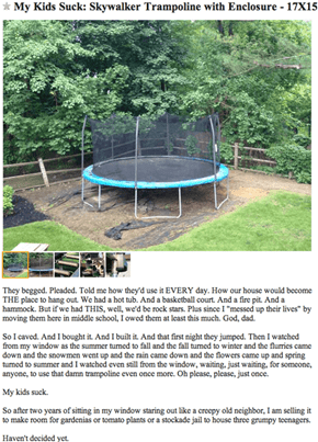 The Coolest Dad Finally Gives Up on His Kids' Trampoline Dreams