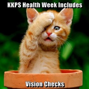 KKPS Health Week Includes  Vision Checks