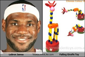 LeBron James Totally Looks Like Falling Giraffe Toy