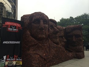 "Jack Link's Celebrates ""National Jerky Day"" With 1600 Pounds of Jerky Rushmore"