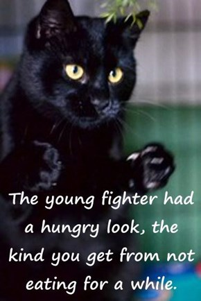 The young fighter had a hungry look, the kind you get from not eating for a while.