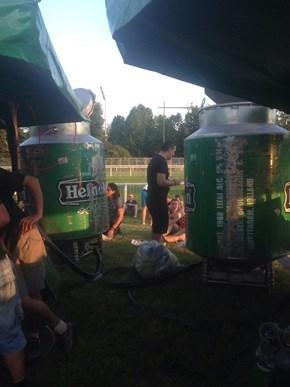 Some Seriously Large Heineken Kegs