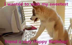 I wanted to wish my sweetest  friend a very Happy Birthday!